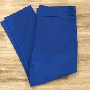 Cobalt blue cropped pants